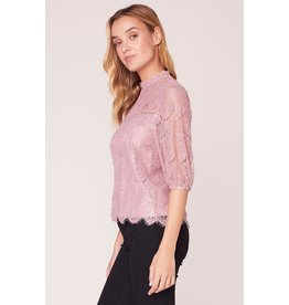 BB Dakota Icing On Top Lace Blouse ROSE