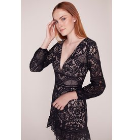 BB Dakota That's Deep Lace Dress BLK