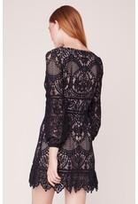 BB Dakota That's Deep Lace Dress BLK