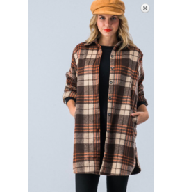 TrendNotes Flannel Plaid Jacket
