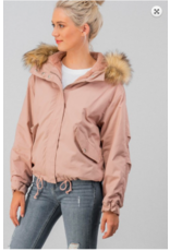 Trend:Notes Hooded Jacket PNK