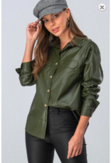 Trend:Notes Vegan Leather Shirt