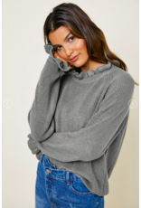 Hayden High Neck Ruffle Sweater