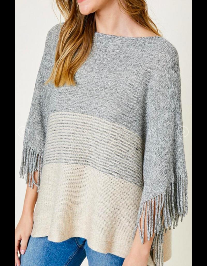Hayden Loft Knit Fringe Poncho BGE