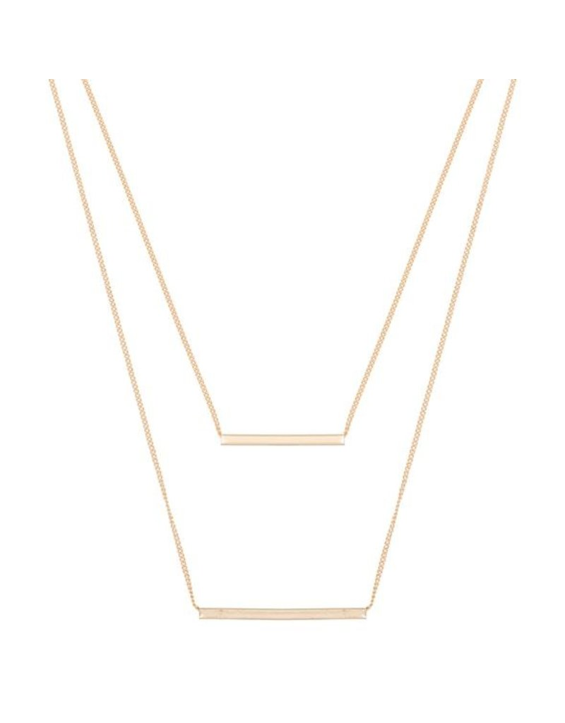 Club Manhattan Double Tube Necklace GLD