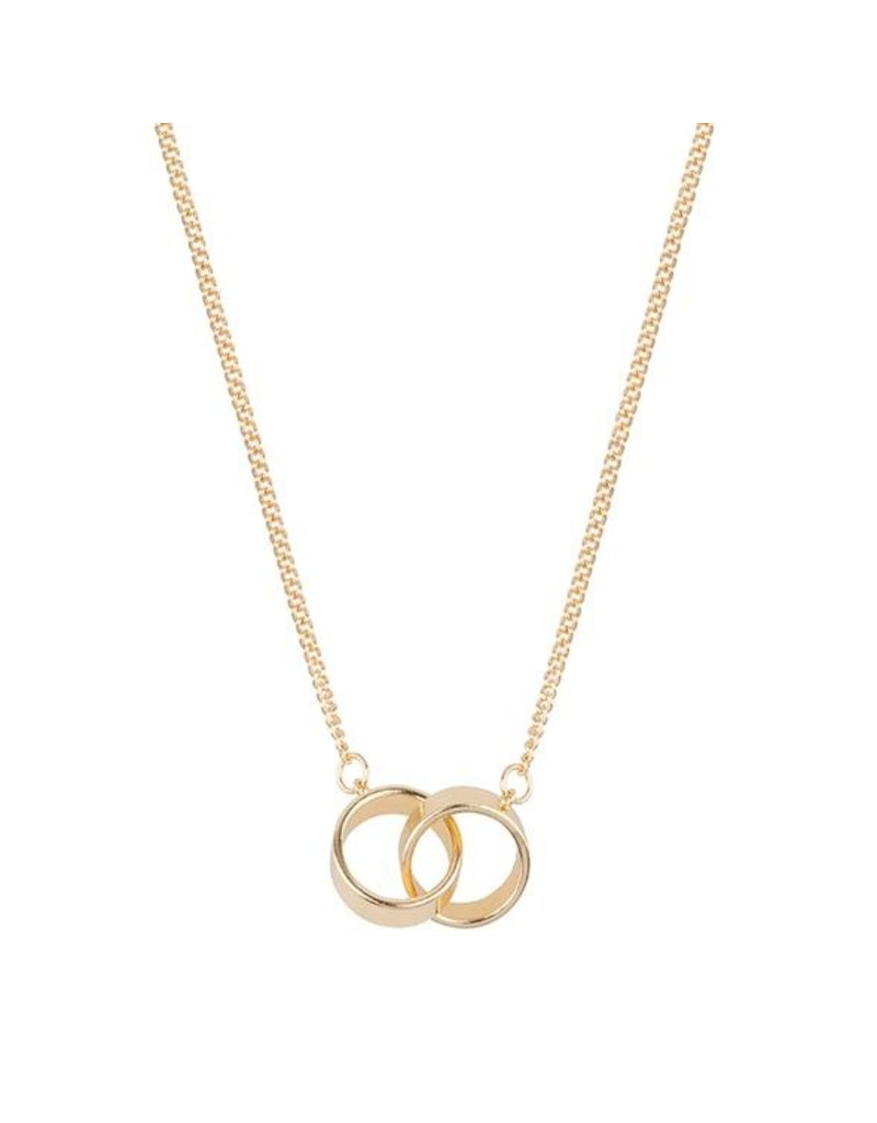 Club Manhattan Tribecca Circle Necklace GLD