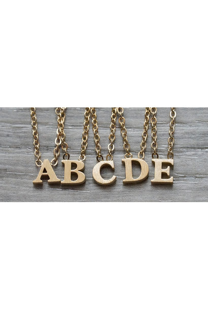 Floating Letter Necklace Rose Gold