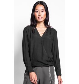 Pink Martini The Jayla Bamboo Top BLK