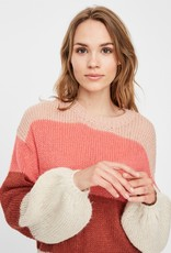 Vero Moda Winnie L/S Colorblock Sweater PNK