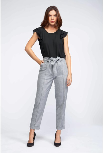 PaperBag Belted Pant GRY