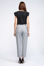 Black Tape PaperBag Belted Pant GRY