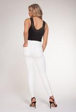 Black Tape Lace Trim Bodysuit BLK