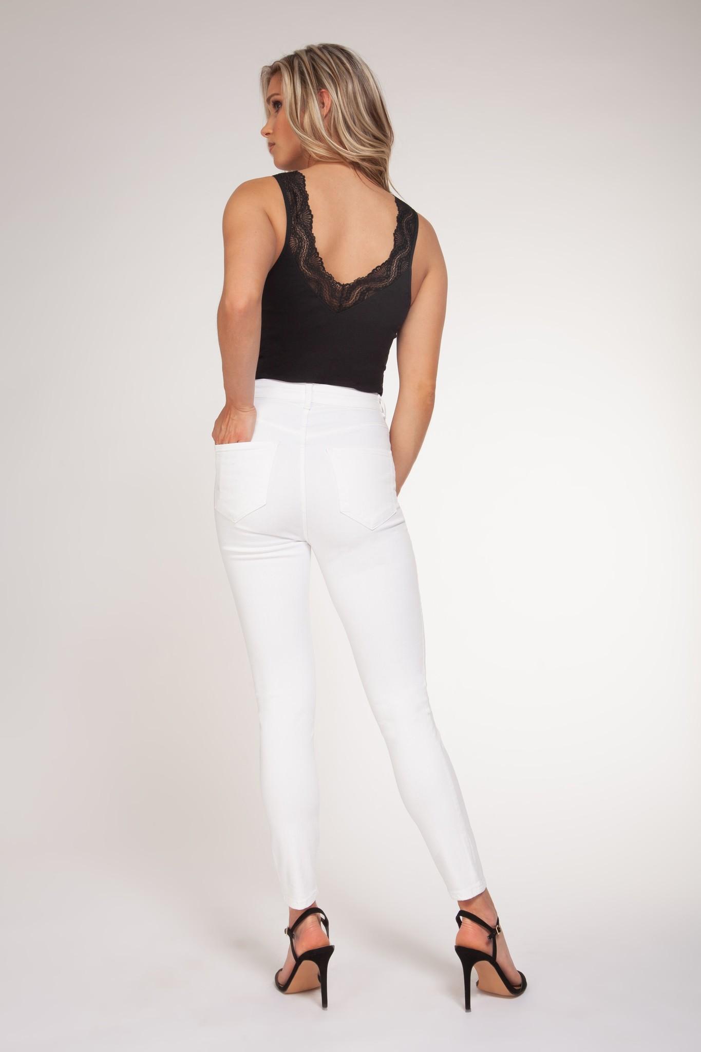 Lace Trim Bodysuit BLK-2
