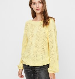 Vero Moda Allie V Back Sweater YEL