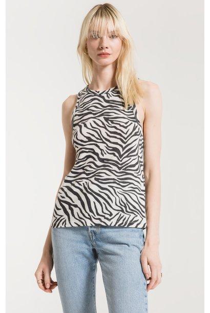Zebra Tank WHT