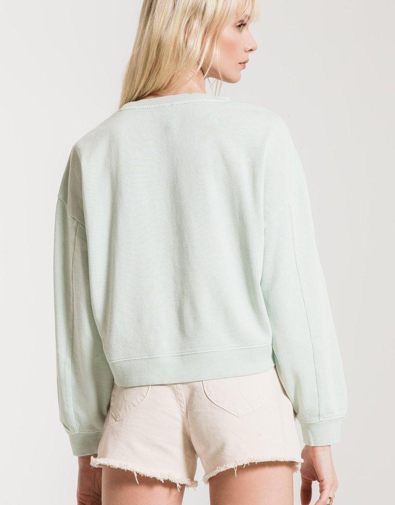 Z Supply Cotton French Terry P/O BLU