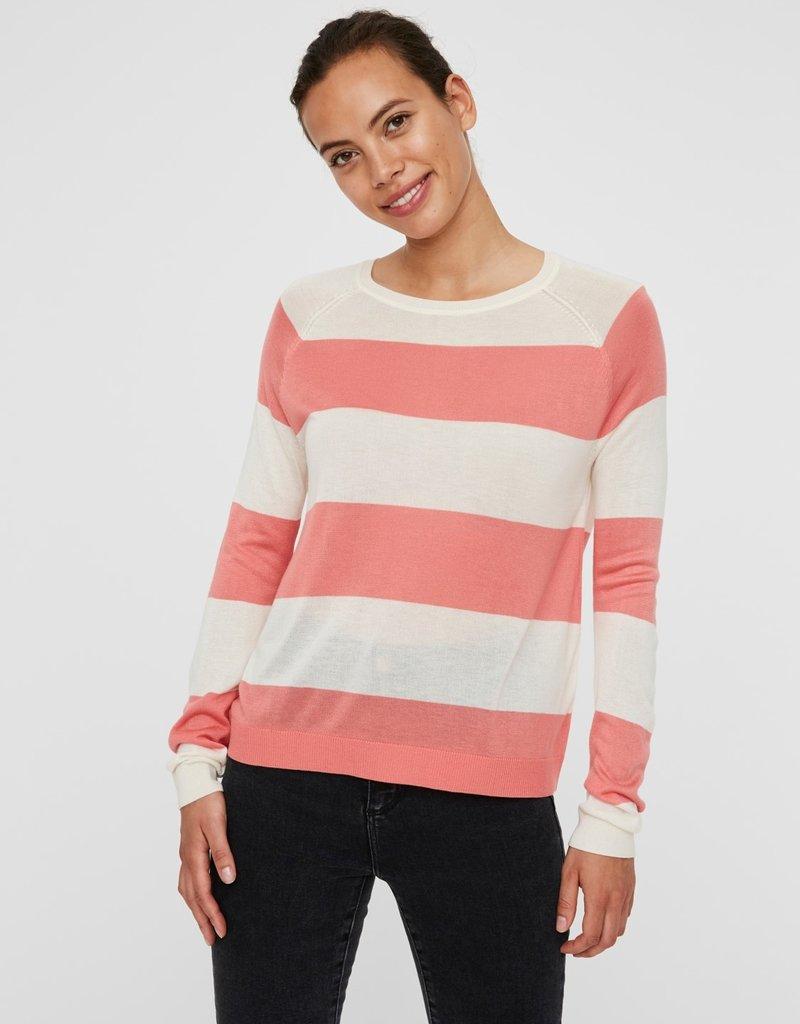 Vero Moda Lina Stripe Sweater COR