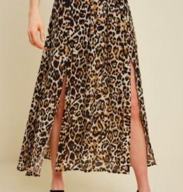 Hayden Chiffon Slit Skirt LEO