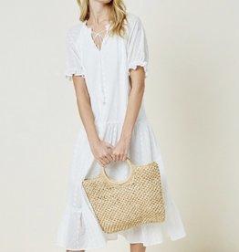 Hayden Eyelet Midi Dress WHT