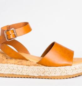 LA Shoes Emma Flatform TAN