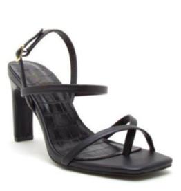 LA Shoes Daphne Strapy Heel BLK