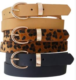Small Buckle Belt 3 Pack BLK/LEO/TAU