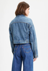 Levi's Crop Dad Trucker Jacket