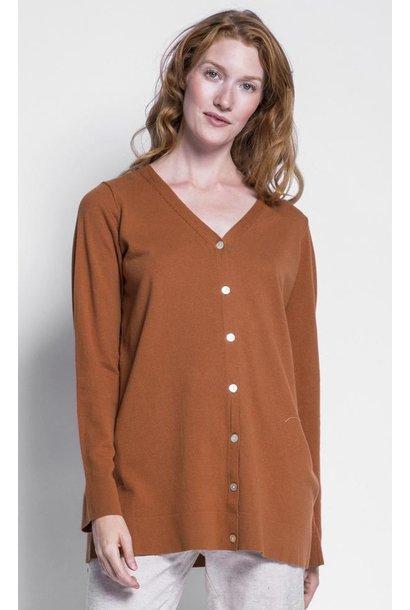 Amy Cardi Sweater BRN