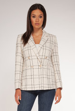 Black Tape Check Double Breasted Blazer IVRY