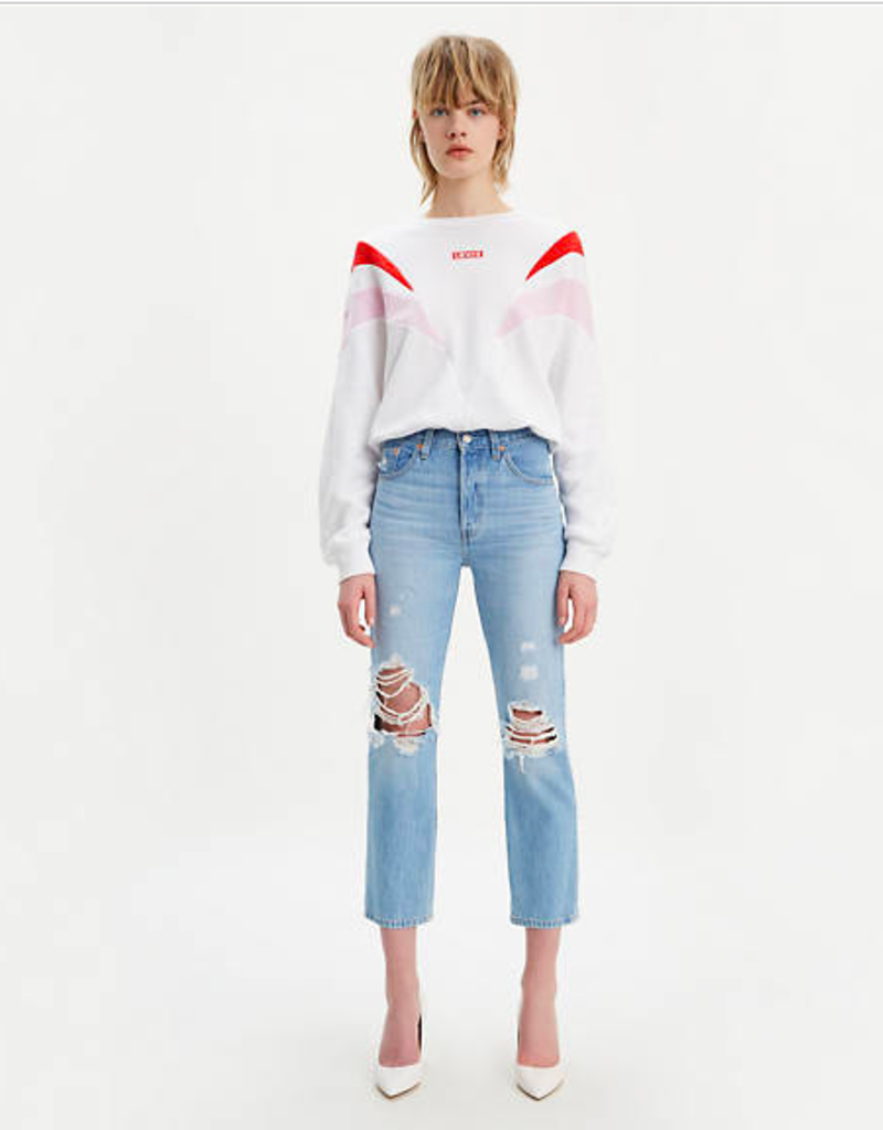 Levi's 501 Crop Jean  MONTGOMERY PATCHED