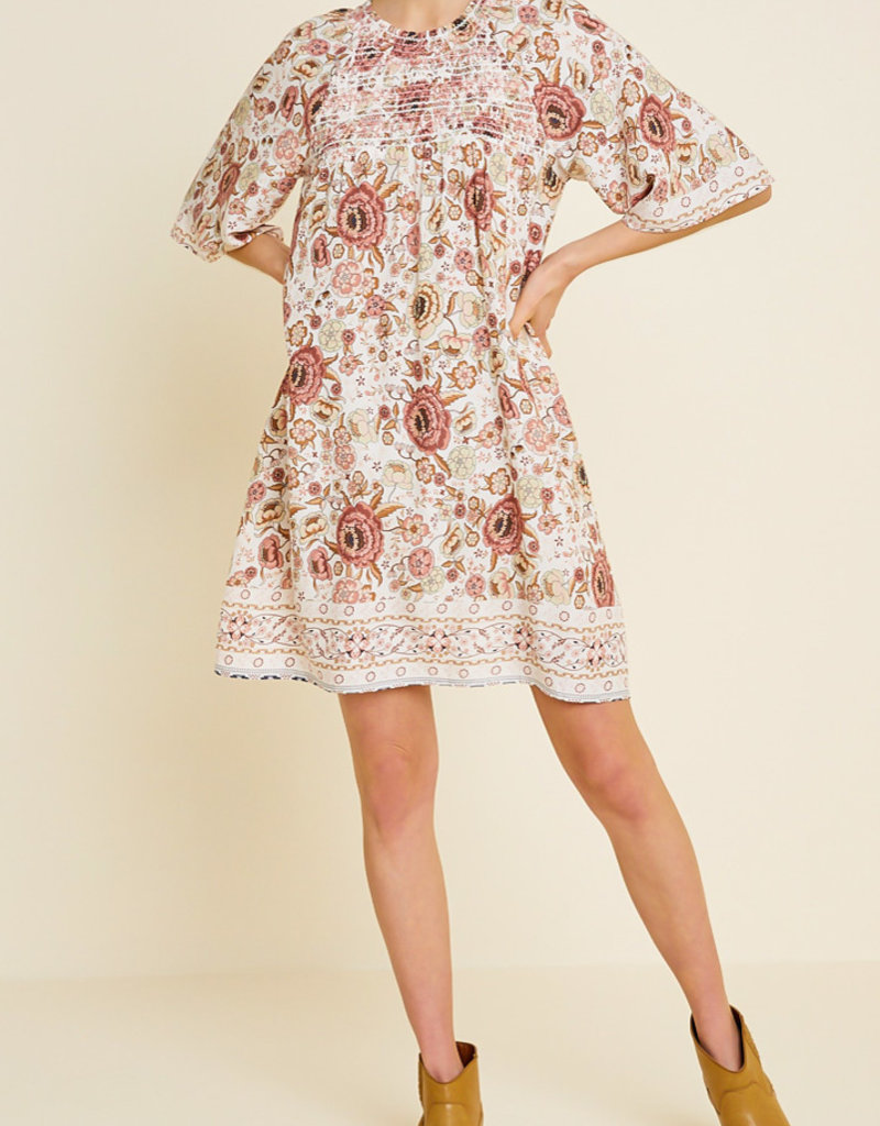 Hayden Floral 1/2 Sleeve Dress MUL
