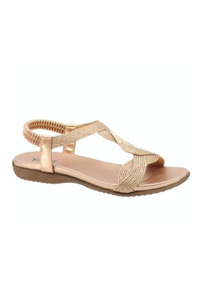 Luna Braid Sandal ROSE