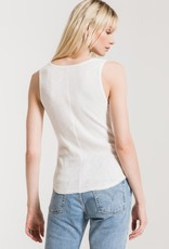 Z Supply Rib Fitted Tank WHT