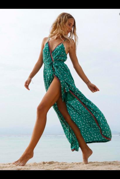 Soft Seas Midi Dress EMRLD
