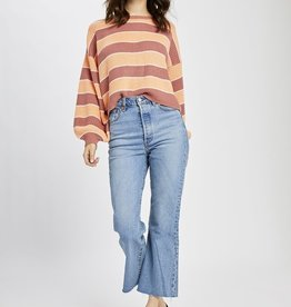 Gentle Fawn Alden Stripe Sweater RED/YEL