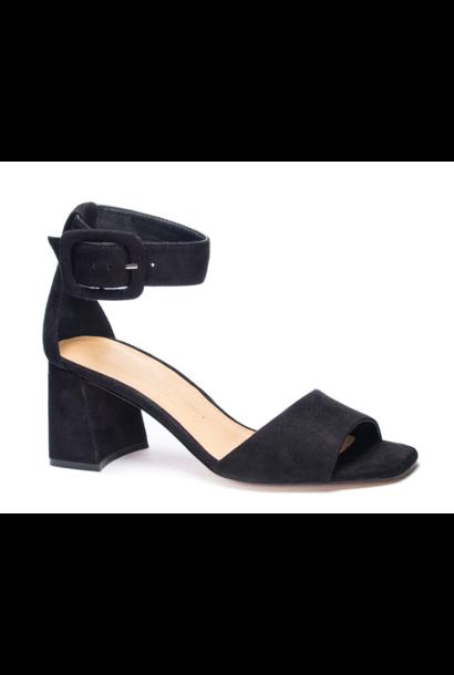 Yova Suede Ankle Strap Heel