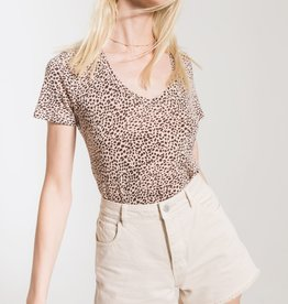 Z Supply Mini Leopard Vnck Tee BLSH
