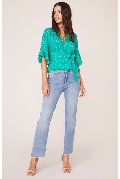 Dotty By Nature Wrap Top GRN