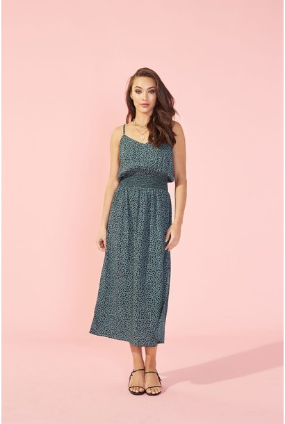 Eyes Wide Strappy Midi Drs GRN