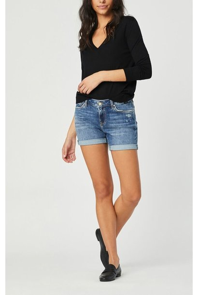 Pixie Mid Rise Short Ripped VINT