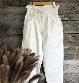 Molly Bracken High Waist Crop Pant WHT