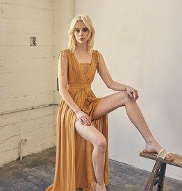 Jenny Joans Lace Sleeve Maxi Dress HONEY