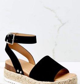 Jenny Joans Austin Flatform Sandal BLK