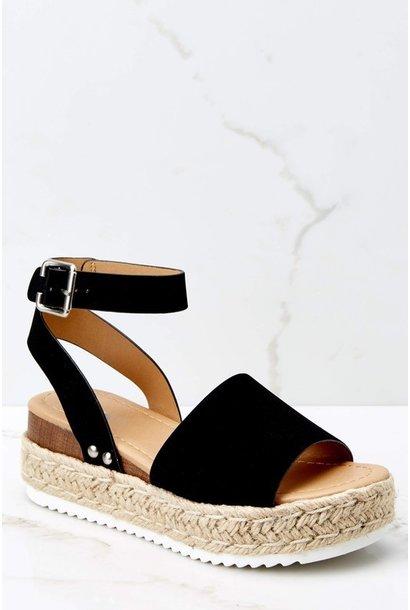 Austin Flatform Sandal BLK