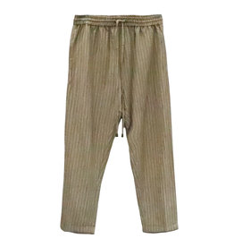 RD Style Stripe Roll Cuff Pant TAN
