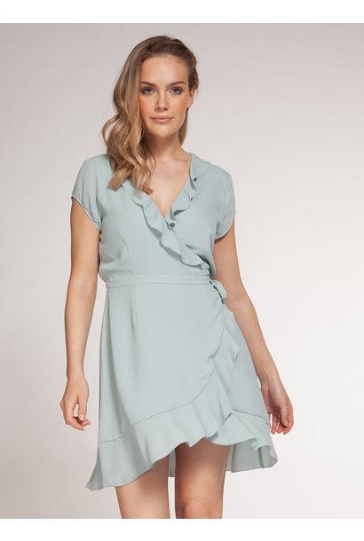 S/S Wrap Dress BLU