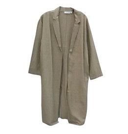 RD Style Stripe Duster Jacket TAN