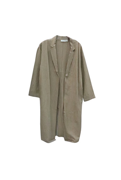 Stripe Duster Jacket TAN