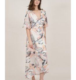 Molly Bracken Floral Maxi Wrap Dress PNK