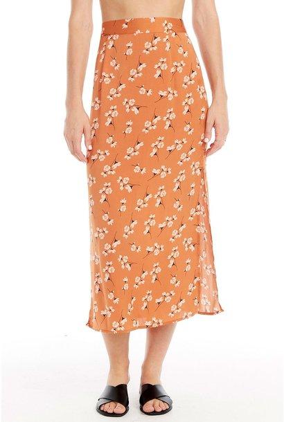 Gia Floral Midi Skirt CLAY